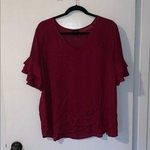 Maroon blouse
